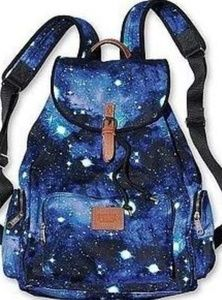 Rare VS Pink Galaxy canvas backpack